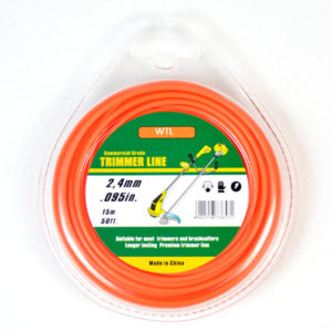 Donut with PVC blister-orange color round trimmer line