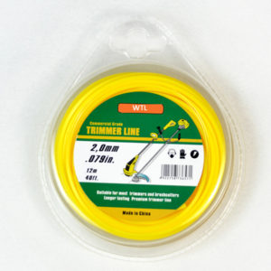 Donut with PVC blister-yellow color round trimmer line