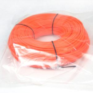 Donut with bag-orange color round trimmer line