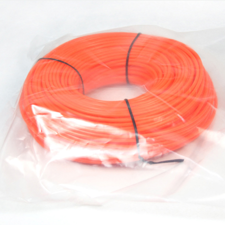 Donut with bag-orange color round trimmer line