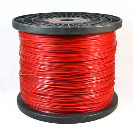 Spool-red color round trimmer line