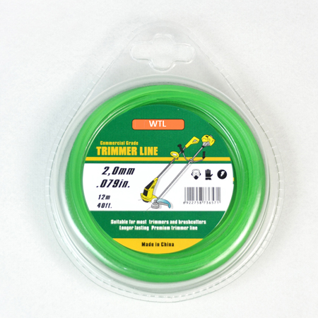 Donut with PVC blister-green color Twisted trimmer line
