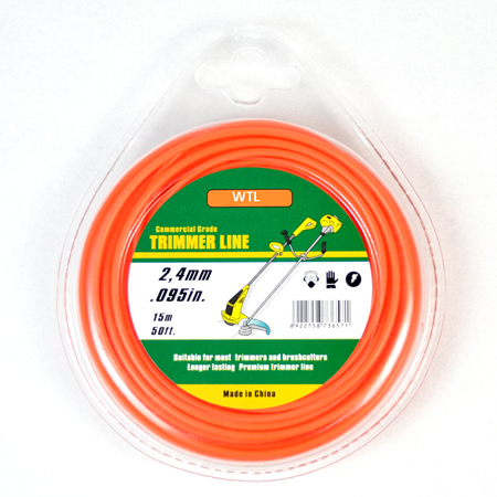 Donut with PVC blister-orange color Twisted trimmer line